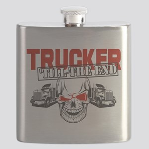 Trucker 'Till The End Flask