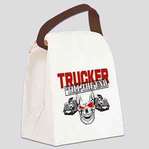 Trucker 'Till The End Canvas Lunch Bag