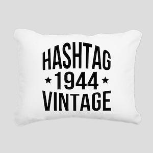 Hashtag 1944 Vintage Rectangular Canvas Pillow