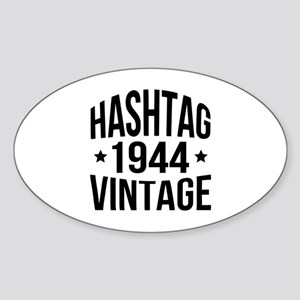 Hashtag 1944 Vintage Sticker (Oval)