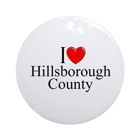 """I Love Hillsborough County"" Ornament (Round)"