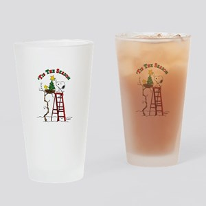 Peanuts Tis the Season Drinking Glass