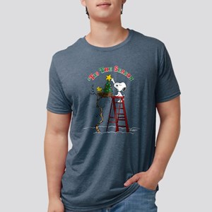 Peanuts Tis the Season Mens Tri-blend T-Shirt