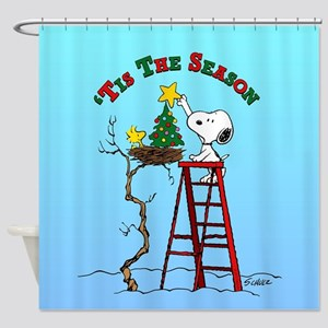 Peanuts Tis the Season Shower Curtain