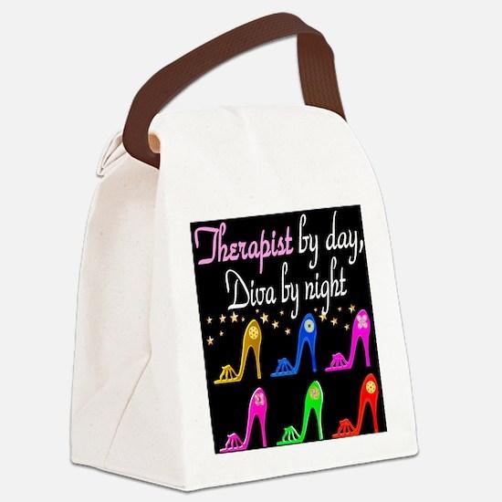 FIERCE THERAPIST Canvas Lunch Bag