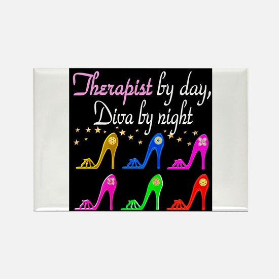 FIERCE THERAPIST Rectangle Magnet