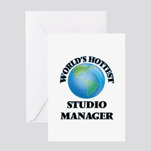 World's Hottest Studio Manager Greeting Cards