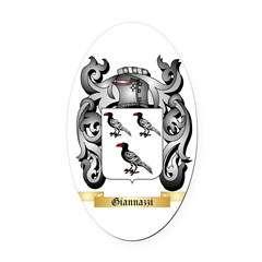 Giannazzi Oval Car Magnet