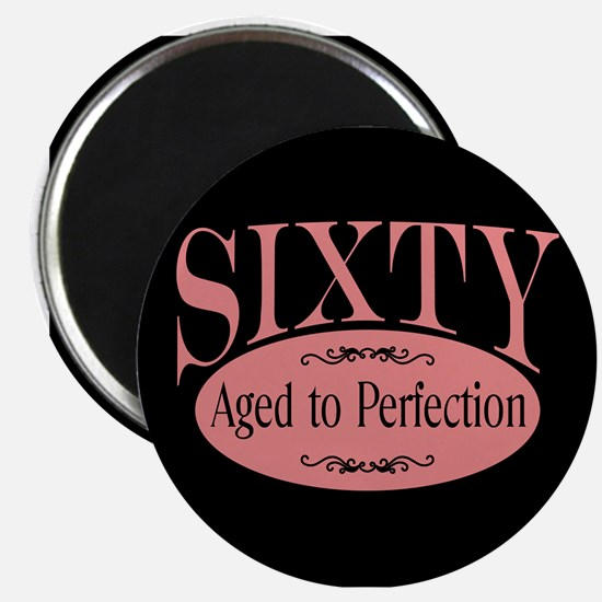 60th aged to perfection Magnet