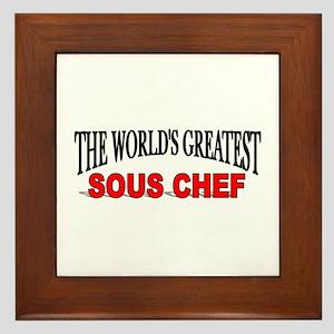 """The World's Greatest Sous Chef"" Framed Tile"