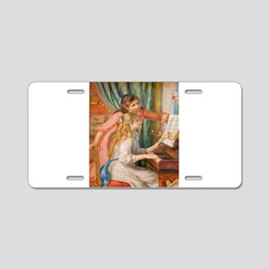 Renoir: Girls at a Piano Aluminum License Plate