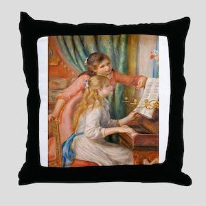 Renoir: Girls at a Piano Throw Pillow