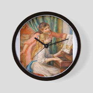 Renoir: Girls at a Piano Wall Clock