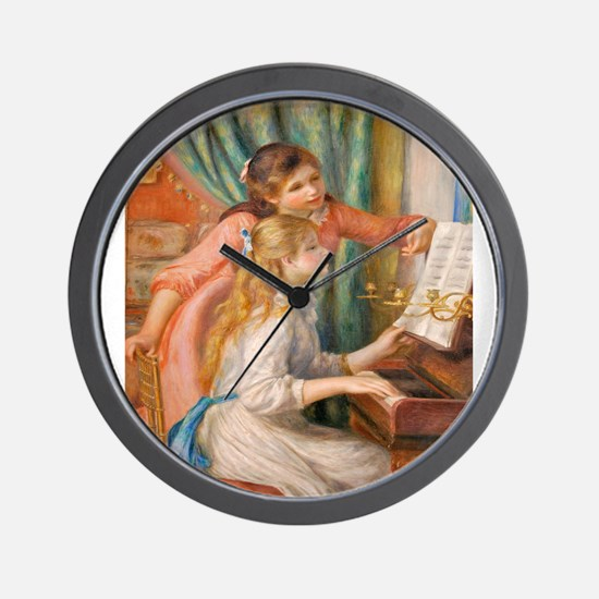 Renoir: Girls at a Piano Wall Clock