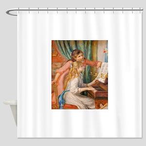 Renoir: Girls at a Piano Shower Curtain