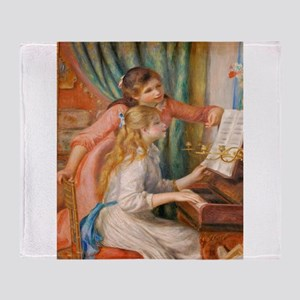 Renoir: Girls at a Piano Throw Blanket