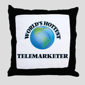 World's Hottest Telemarketer Throw Pillow