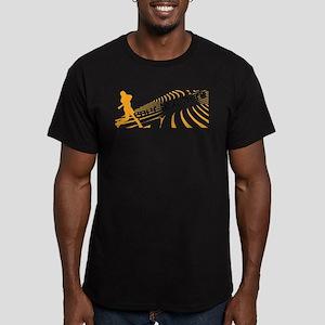 Cool Orange Baseball Men's Fitted T-Shirt (dark)
