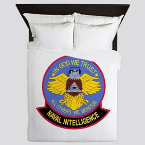US NAVAL INTELLIGENCE Military Patch I Queen Duvet