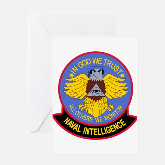US NAVAL INTELLIGENCE Military Patc Greeting Cards
