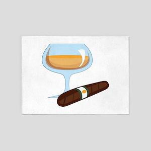Brandy And Cigar 5'x7'Area Rug