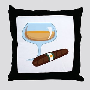 Brandy And Cigar Throw Pillow