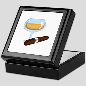 Brandy And Cigar Keepsake Box