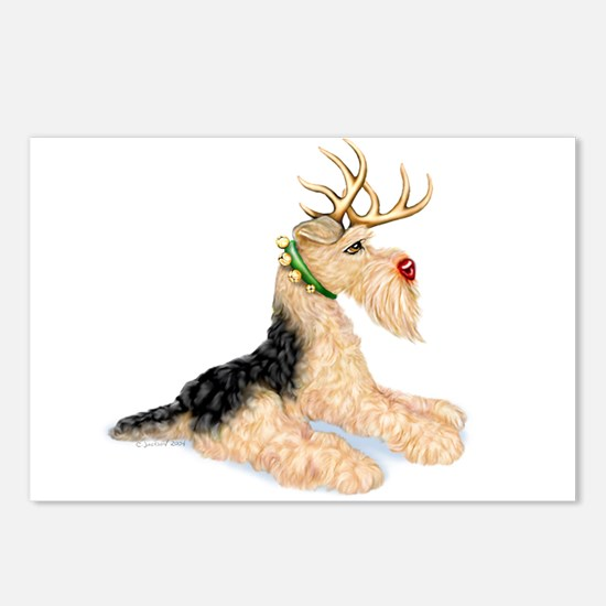 Airedale Christmas Dale Deer Postcards (Package of