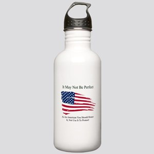Flag May Not Be Perfec Stainless Water Bottle 1.0L