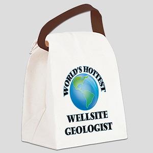World's Hottest Wellsite Geologis Canvas Lunch Bag