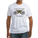 The source of the Search for Light Fitted T-Shirt