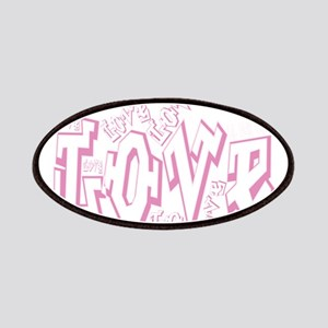 Lil pink crush love graffiti white wash.jp Patches