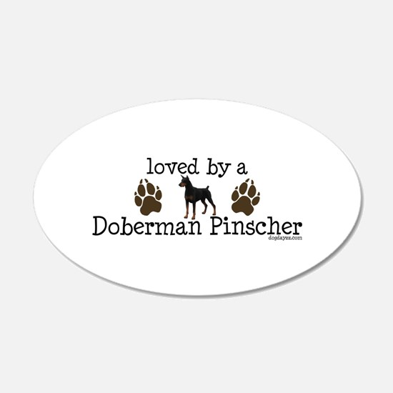 Loved by a doberman pinascher Wall Decal
