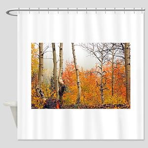 Misty Autumn Aspen 2 Shower Curtain