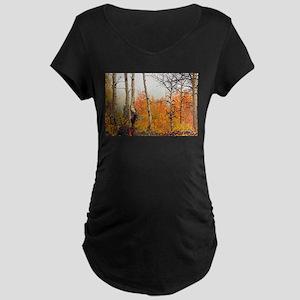 Misty Autumn Aspen 2 Maternity Dark T-Shirt