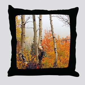 Misty Autumn Aspen 2 Throw Pillow