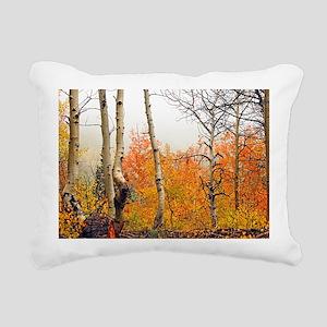 Misty Autumn Aspen 2 Rectangular Canvas Pillow