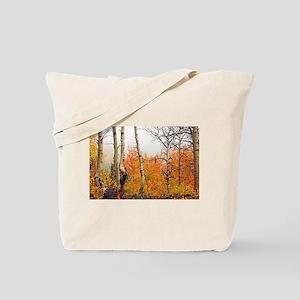 Misty Autumn Aspen 2 Tote Bag