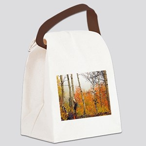 Misty Autumn Aspen 2 Canvas Lunch Bag