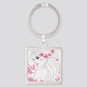 Floral Woman Keychains