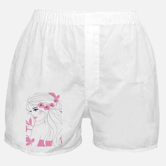 Floral Woman Boxer Shorts