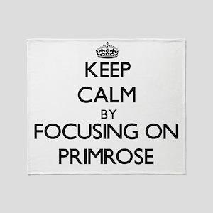 Keep Calm by focusing on Primrose Throw Blanket
