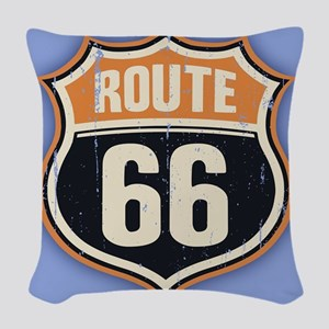 Route 66 -1214 Woven Throw Pillow