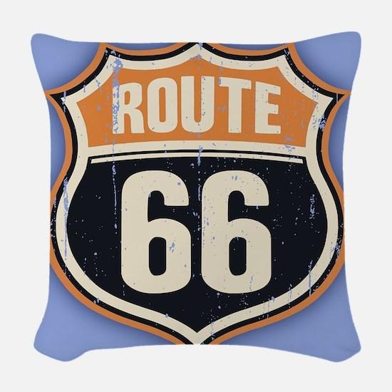 Route 66 -1214 Woven Throw Pillow