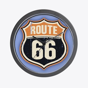 Route 66 -1214 Wall Clock