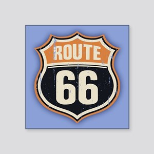 "Route 66 -1214 Square Sticker 3"" x 3"""