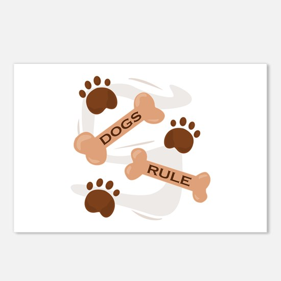 Dogs Rule Postcards (Package of 8)