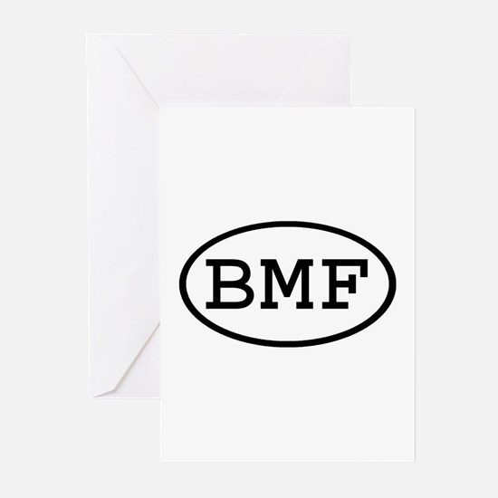 BMF Oval Greeting Cards (Pk of 10)