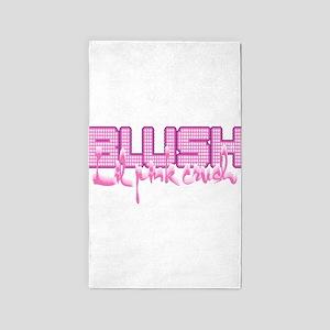 Lil pink crush blush 3'x5' Area Rug