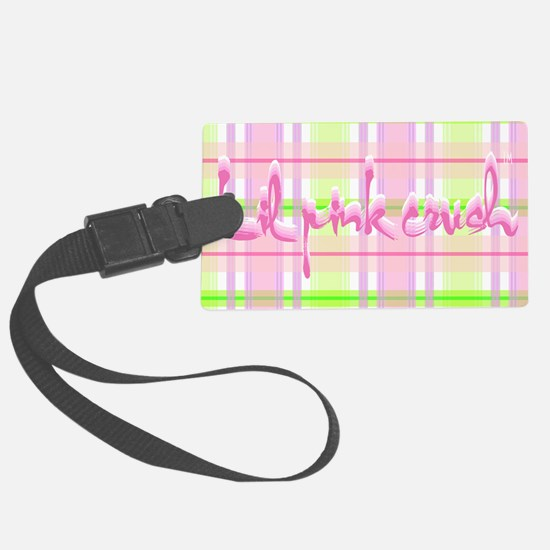 Lil pink crush pink green plaid. Luggage Tag